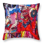 Buddhist Dancers 2 Throw Pillow