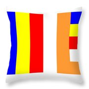 Buddhist Flag Throw Pillow