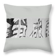 Buddhist Monastery Throw Pillow