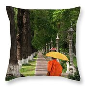 Buddhist Monk 01 Throw Pillow