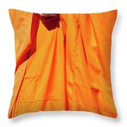 Buddhist Monk 02 Throw Pillow by Rick Piper Photography