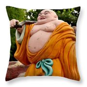 Buddhist Monk On Journey Haw Par Villas Singapore Throw Pillow