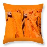 Buddhist Monks 02 Throw Pillow