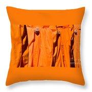 Buddhist Monks 03 Throw Pillow