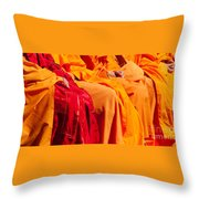 Buddhist Monks 04 Throw Pillow by Rick Piper Photography