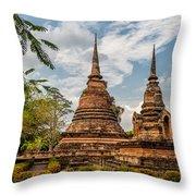Buddhist Park Throw Pillow