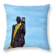 Buddhist Statue Throw Pillow