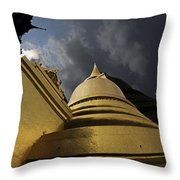 Buddhist Temple In Bangkok Thailand Buddhism  Throw Pillow