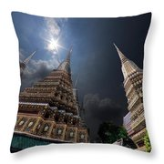 Buddhist Temple In Bangkok Thailand Buddhism Wat Phra Keo Throw Pillow