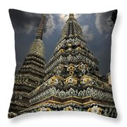 Buddhist Temple In Bangkok Thailand Buddhism Wat Po Throw Pillow