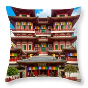Buddhist Temple In Singapore Throw Pillow