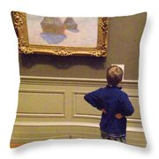 Budding Art Enthusiast Throw Pillow