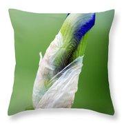 Budding Blue Throw Pillow