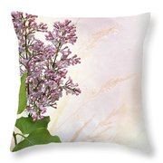 Budding Lilac Flowers Throw Pillow
