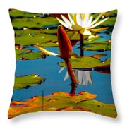 Budding Lilies Throw Pillow