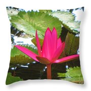 Budding Majesty  Throw Pillow