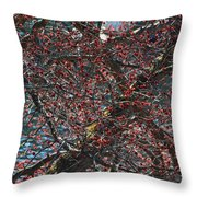 Budding Maple Tree Throw Pillow