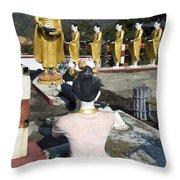 Buddist Shrine Throw Pillow