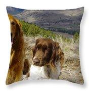 Budds On A Hike Throw Pillow
