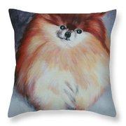 Buddy - Pomeranian Throw Pillow
