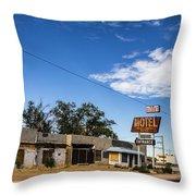 Budget Motel Throw Pillow