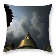 Budhist Temple In Bangkok Thailand Throw Pillow