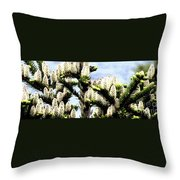 Buds 2 Abstraction Throw Pillow