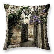Budva Old Town Street Montenegro Throw Pillow