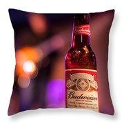 Budweiser Blues Throw Pillow