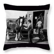 Budweiser Clydesdales Los Vaqueros Rodeo Parade Tucson Arizona 1984 Throw Pillow