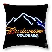 Budweiser In Colorado Throw Pillow
