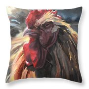 Buff Orpington Cockerel Throw Pillow