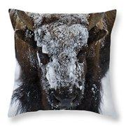Buffalo #0057 Throw Pillow