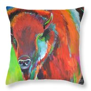 Buffalo 2 Throw Pillow