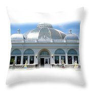 Buffalo And Erie County Botanical Gardens At Eastertime Throw Pillow