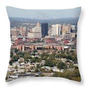 Buffalo And Niagara Falls Skylines Throw Pillow