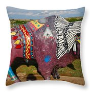 Buffalo Artwork Throw Pillow
