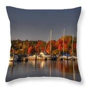 Buffalo Bay Marina 1 Throw Pillow