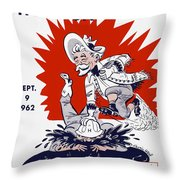 Buffalo Bills 1962 Program Throw Pillow