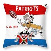 Buffalo Bills 1963 Playoff Program Throw Pillow