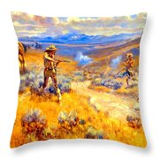 Buffalo Bills Duel With Yellowhand Throw Pillow