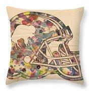 Buffalo Bills Vintage Art Throw Pillow