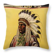 Buffalo Bills Wild West Throw Pillow