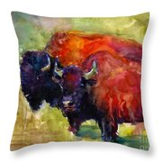 Buffalo Bisons Painting Throw Pillow