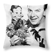 Buffalo Bob And Howdy Doody Throw Pillow