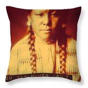 Buffalo Calf Road Woman Throw Pillow
