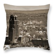 Buffalo Central Terminal Winter 2013 Throw Pillow