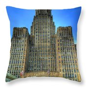 Buffalo City Hall Throw Pillow by Tammy Wetzel