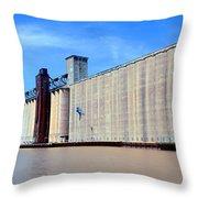Buffalo Grain Mill Throw Pillow