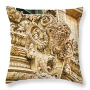 Buffalo In Baffalo Throw Pillow